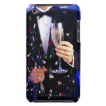 Man in tuxedo at celebration iPod touch case