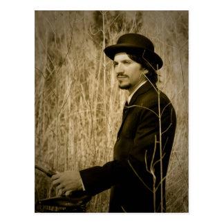 Man in vintage suit - New Orleans Bayou Postcard