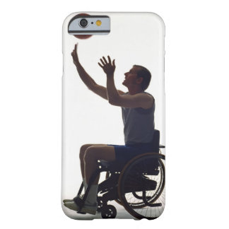 Man in wheelchair playing with basketball barely there iPhone 6 case