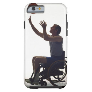 Man in wheelchair playing with basketball tough iPhone 6 case
