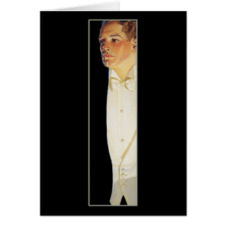 Man in White Tie by Leyendecker Stationery Note Card