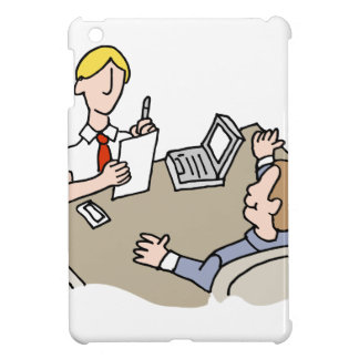 Man interviewing another man iPad mini covers