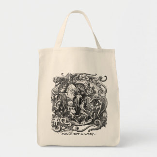Man Is But A Worm Canvas Bag