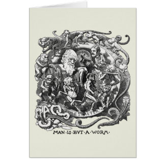 Man Is But A Worm Greeting Card