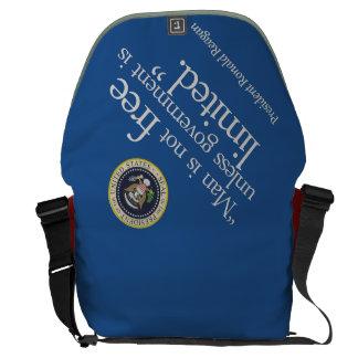 """Man is not free ..."" Reagan, Messenger (rsd-u29) Courier Bag"