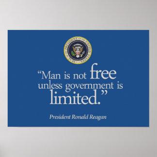 """Man is not free ..."" Reagan, Poster (rsd-u26)"