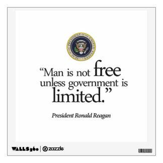"""Man is not free ..."" Reagan, Wall Decal (rsd-u28)"