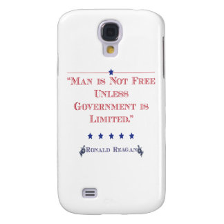 Man is Not Free unless government is limited Samsung Galaxy S4 Cover