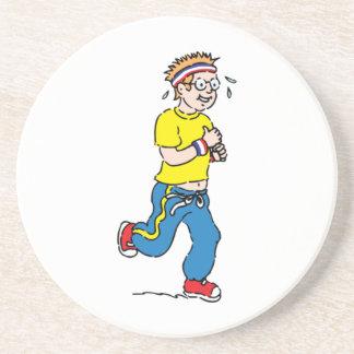 Man Jogging Drink Coaster