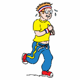 Man Jogging Cutout