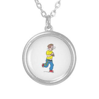 Man Jogging Necklace
