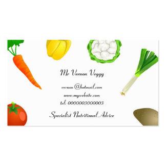 Man Juggling Vegetables Business Card