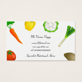 Man Juggling Vegetables Business Card