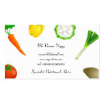 Man Juggling Vegetables Double-Sided Standard Business Cards (Pack Of 100)