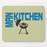 Man Kitchen Grill Mouse Pad