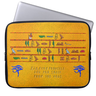 Man Know Yourself Laptop Sleeve