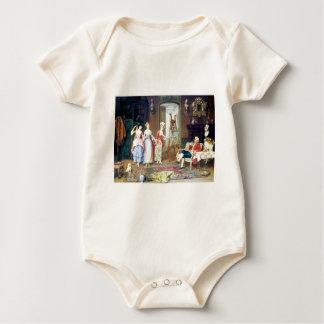 Man Ladies Victorian Three Graces painting Baby Bodysuit