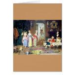 Man Ladies Victorian Three Graces painting Greeting Card