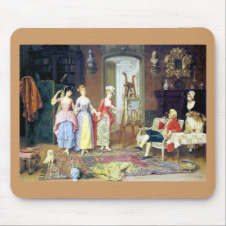 Man Ladies Victorian Three Graces painting Mouse Pad