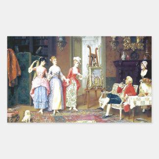 Man Ladies Victorian Three Graces painting Stickers