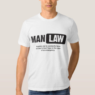 Man Law - Duct Tape T-Shirt