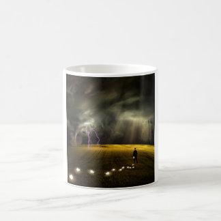 Man leaves trail of ideas coffee mug