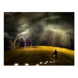 Man leaves trail of ideas postcard