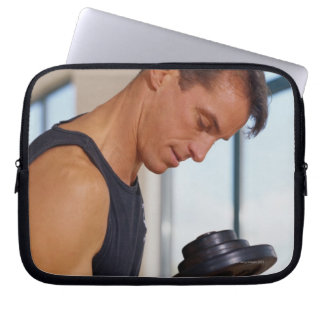 Man Lifting a Dumbbell Laptop Computer Sleeves