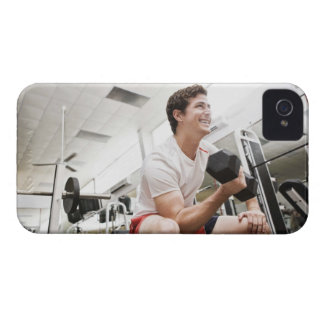 Man lifting dumbbells Case-Mate iPhone 4 case