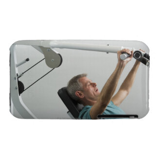 Man lifting weight at gym iPhone 3 Case-Mate cases
