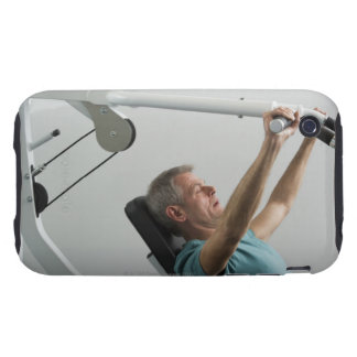Man lifting weight at gym iPhone 3 tough cover