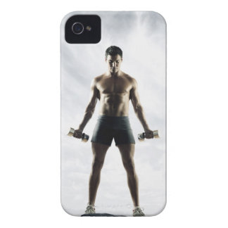 Man lifting weights 3 iPhone 4 case