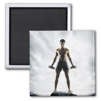 Man lifting weights 3 magnet