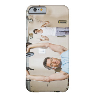 Man lifting weights at gym barely there iPhone 6 case