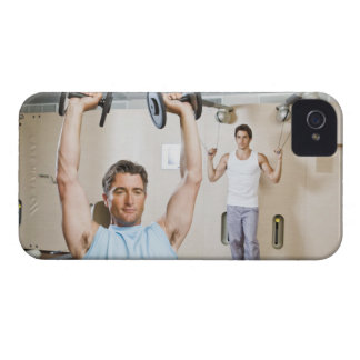 Man lifting weights at gym Case-Mate iPhone 4 cases