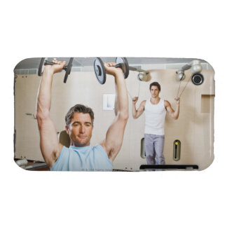 Man lifting weights at gym iPhone 3 Case-Mate cases