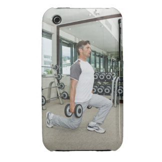 Man lifting weights in gym iPhone 3 Case-Mate case