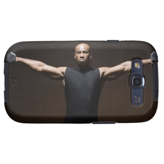 Man lifting weights, portrait galaxy SIII case