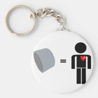 Man Loves Duct Tape Basic Round Button Keychain