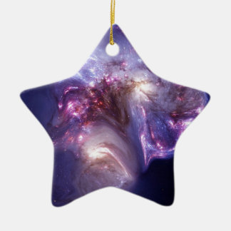 Man Made Heaven Nebula Space Art Ceramic Ornament