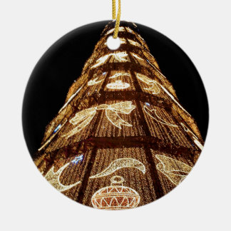 Man Made Illuminated Christmas Tree Ceramic Ornament