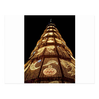 Man Made Illuminated Christmas Tree Postcard