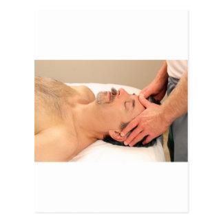 Man Massaging Male Face Postcard