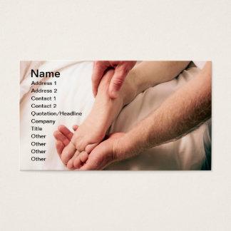 Man Massaging Male Foot Business Card