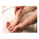 Man Massaging Male Foot Post Cards
