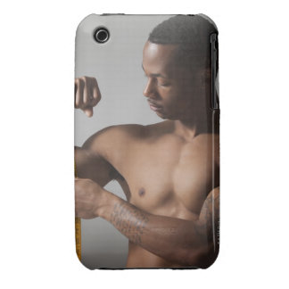 Man measuring his triceps iPhone 3 case