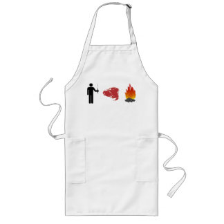 Man. Meat. Fire. Long Apron