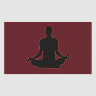 Man meditating yoga in the evening sun 01 stickers