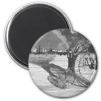 Man Meets Bicycle 2 Inch Round Magnet