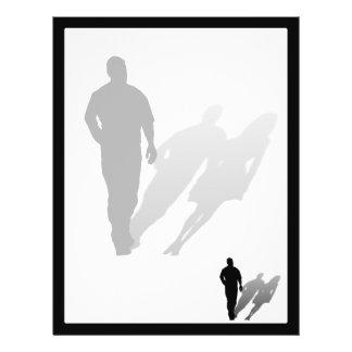 "Man Missing Woman Silhouette 8.5"" X 11"" Flyer"